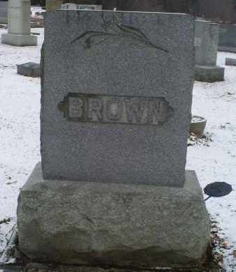 BROWN, MONUMENT - Ross County, Ohio | MONUMENT BROWN - Ohio Gravestone Photos