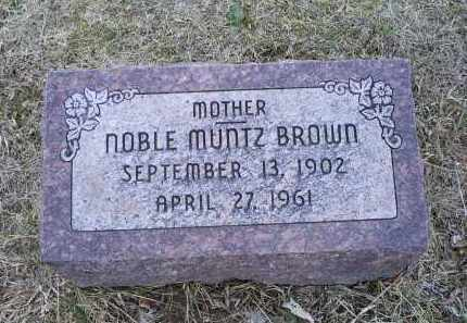 BROWN, NOBLE - Ross County, Ohio | NOBLE BROWN - Ohio Gravestone Photos