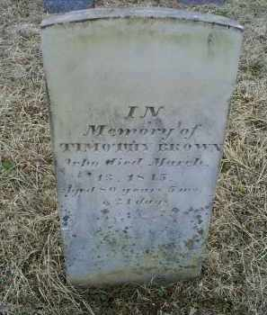BROWN, TIMOTHY - Ross County, Ohio | TIMOTHY BROWN - Ohio Gravestone Photos