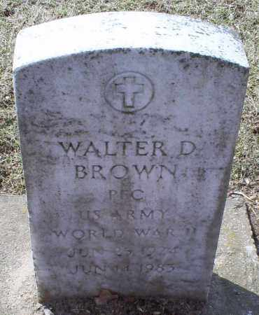 BROWN, WALTER D. - Ross County, Ohio | WALTER D. BROWN - Ohio Gravestone Photos