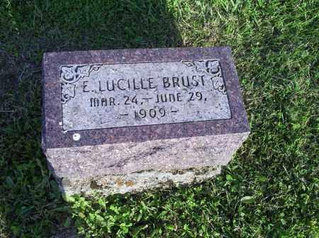 BRUST, E. LUCILLE - Ross County, Ohio | E. LUCILLE BRUST - Ohio Gravestone Photos