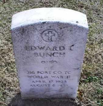 BUNCH, EDWARD L. - Ross County, Ohio   EDWARD L. BUNCH - Ohio Gravestone Photos
