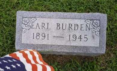 BURDEN, EARL - Ross County, Ohio | EARL BURDEN - Ohio Gravestone Photos
