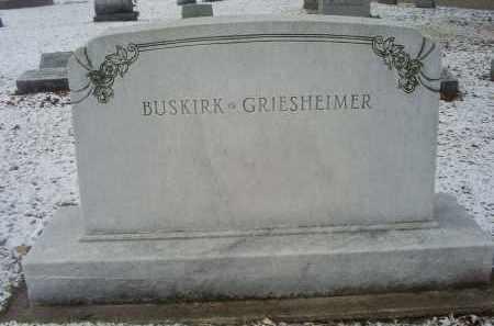 BUSKIRK-GRIESHEIMER, MONUMENT - Ross County, Ohio   MONUMENT BUSKIRK-GRIESHEIMER - Ohio Gravestone Photos
