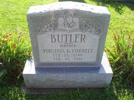 CORNETT BUTLER, VIRGINIA D. - Ross County, Ohio | VIRGINIA D. CORNETT BUTLER - Ohio Gravestone Photos