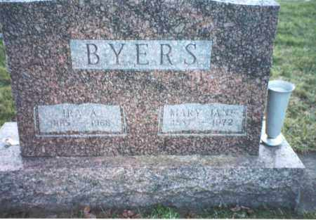 BYERS, IRA AUSTIN - Ross County, Ohio | IRA AUSTIN BYERS - Ohio Gravestone Photos