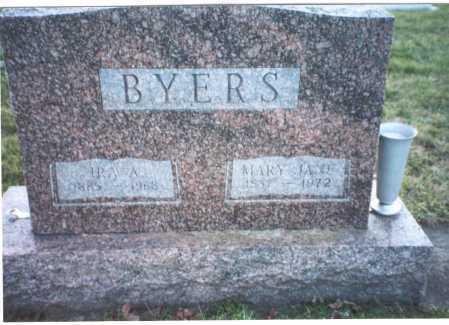SHEPHERD BYERS, MARY JANE - Ross County, Ohio | MARY JANE SHEPHERD BYERS - Ohio Gravestone Photos