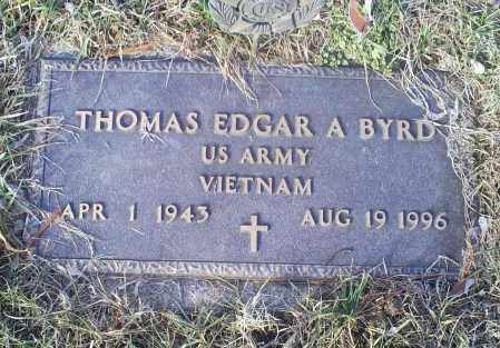 BYRD, THOMAS EDGAR A. - Ross County, Ohio   THOMAS EDGAR A. BYRD - Ohio Gravestone Photos