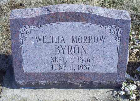 BYRON, WELTHA - Ross County, Ohio | WELTHA BYRON - Ohio Gravestone Photos