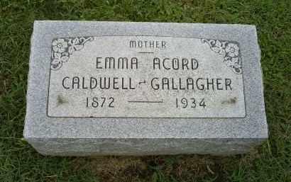 GALLAGHER, EMMA ACORD CALDWELL - Ross County, Ohio | EMMA ACORD CALDWELL GALLAGHER - Ohio Gravestone Photos