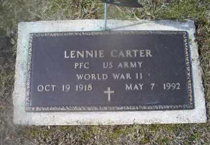 CARTER, LENNIE - Ross County, Ohio   LENNIE CARTER - Ohio Gravestone Photos