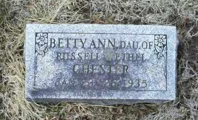 CHESTER, BETTY ANN - Ross County, Ohio | BETTY ANN CHESTER - Ohio Gravestone Photos