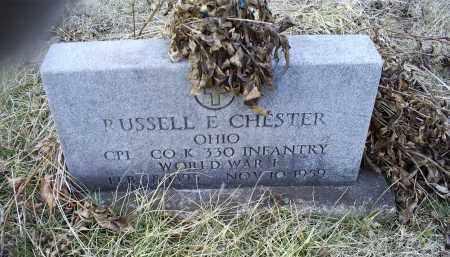 CHESTER, RUSSELL E. - Ross County, Ohio   RUSSELL E. CHESTER - Ohio Gravestone Photos
