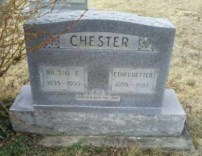 CHESTER, ETHEL - Ross County, Ohio | ETHEL CHESTER - Ohio Gravestone Photos
