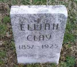 CLAY, ELIJAH - Ross County, Ohio | ELIJAH CLAY - Ohio Gravestone Photos