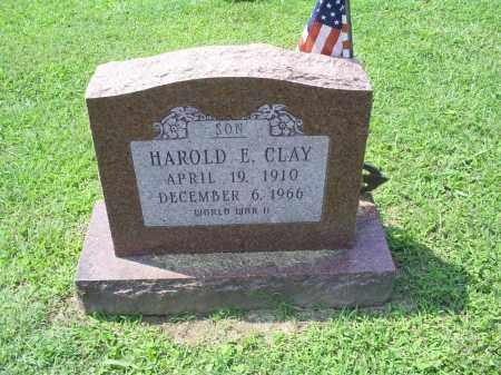 CLAY, HAROLD E. - Ross County, Ohio   HAROLD E. CLAY - Ohio Gravestone Photos