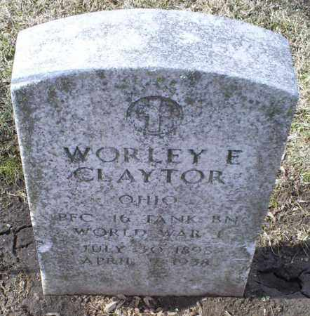 CLAYTOR, WORLEY E. - Ross County, Ohio | WORLEY E. CLAYTOR - Ohio Gravestone Photos