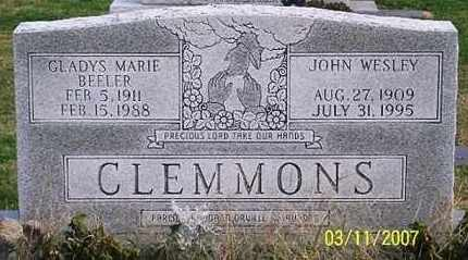 BEELER CLEMMONS, GLADYS MARIE - Ross County, Ohio | GLADYS MARIE BEELER CLEMMONS - Ohio Gravestone Photos