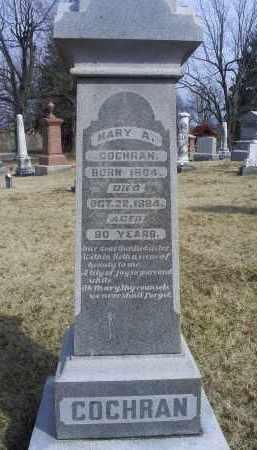 COCHRAN, MARY A. - Ross County, Ohio | MARY A. COCHRAN - Ohio Gravestone Photos