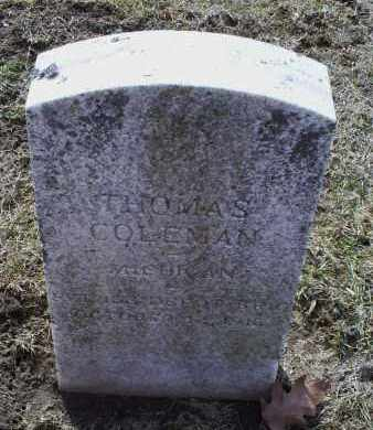 COLEMAN, THOMAS - Ross County, Ohio | THOMAS COLEMAN - Ohio Gravestone Photos