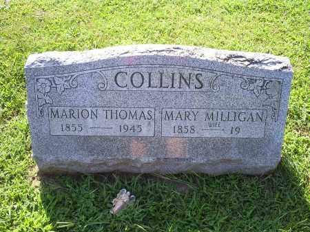 COLLINS, MARY MILLIGAN - Ross County, Ohio | MARY MILLIGAN COLLINS - Ohio Gravestone Photos