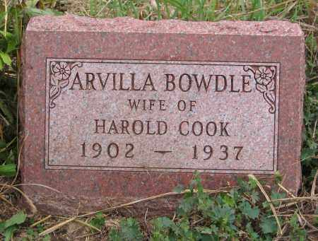 BOWDLE COOK, ARVILLA - Ross County, Ohio | ARVILLA BOWDLE COOK - Ohio Gravestone Photos