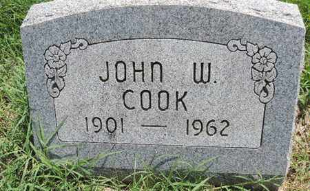COOK, JOHN W - Ross County, Ohio | JOHN W COOK - Ohio Gravestone Photos