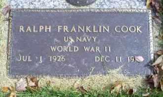 COOK, RALPH FRANKLIN - Ross County, Ohio   RALPH FRANKLIN COOK - Ohio Gravestone Photos