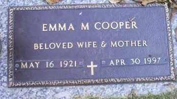 COOPER, EMMA M. - Ross County, Ohio | EMMA M. COOPER - Ohio Gravestone Photos