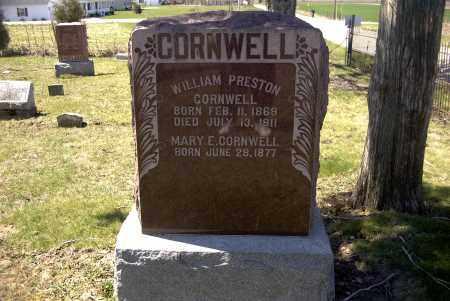 CORNWELL, WILLIAM PRESTON - Ross County, Ohio | WILLIAM PRESTON CORNWELL - Ohio Gravestone Photos