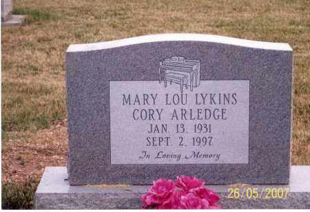 CORY-ARLEDGE, MARY LOU - Ross County, Ohio | MARY LOU CORY-ARLEDGE - Ohio Gravestone Photos