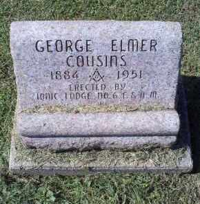COUSINS, GEORGE ELMER - Ross County, Ohio | GEORGE ELMER COUSINS - Ohio Gravestone Photos