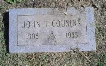 COUSINS, JOHN T. - Ross County, Ohio | JOHN T. COUSINS - Ohio Gravestone Photos