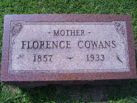 COWANS, FLORENCE - Ross County, Ohio | FLORENCE COWANS - Ohio Gravestone Photos