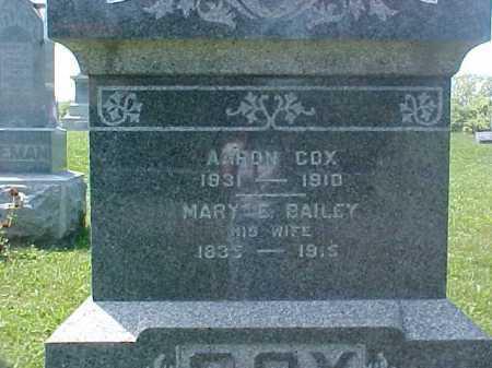 BAILEY COX, MARY E. - Ross County, Ohio | MARY E. BAILEY COX - Ohio Gravestone Photos