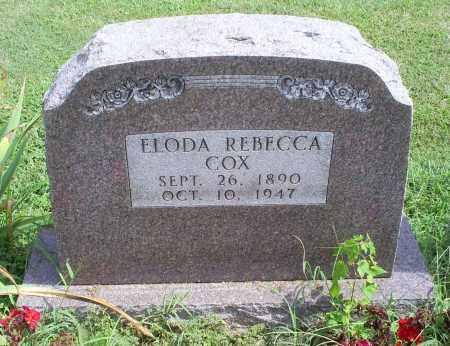 COX, ELODA REBECCA - Ross County, Ohio | ELODA REBECCA COX - Ohio Gravestone Photos