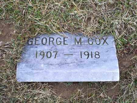 COX, GEORGE M. - Ross County, Ohio | GEORGE M. COX - Ohio Gravestone Photos