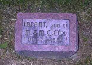 COX, INFANT - Ross County, Ohio | INFANT COX - Ohio Gravestone Photos