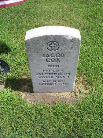 COX, JACOB - Ross County, Ohio | JACOB COX - Ohio Gravestone Photos
