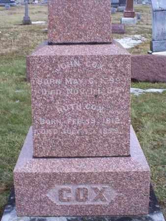 COX, JOHN - Ross County, Ohio | JOHN COX - Ohio Gravestone Photos