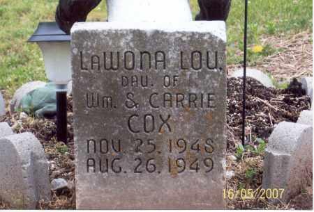 COX, LAWONA LOU - Ross County, Ohio | LAWONA LOU COX - Ohio Gravestone Photos