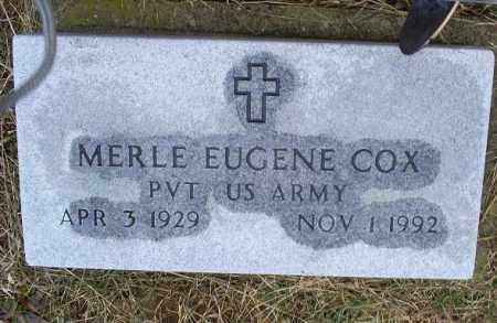 COX, MERLE EUGENE - Ross County, Ohio   MERLE EUGENE COX - Ohio Gravestone Photos