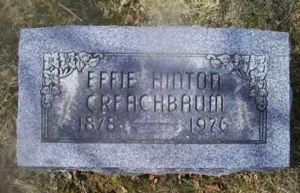 HINTON CREACHBAUM, EFFIE - Ross County, Ohio | EFFIE HINTON CREACHBAUM - Ohio Gravestone Photos
