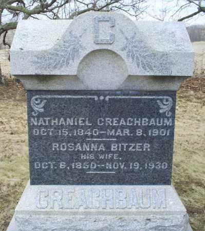 BITZER CREACHBAUM, ROSANNA - Ross County, Ohio | ROSANNA BITZER CREACHBAUM - Ohio Gravestone Photos
