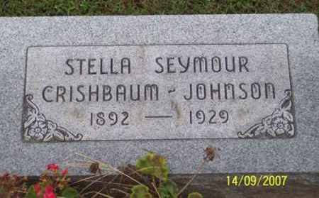 SEYMOUR CRISHBAUM JOHNSON, STELLA - Ross County, Ohio | STELLA SEYMOUR CRISHBAUM JOHNSON - Ohio Gravestone Photos