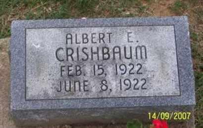 CRISHBAUM, ALBERT E. - Ross County, Ohio | ALBERT E. CRISHBAUM - Ohio Gravestone Photos