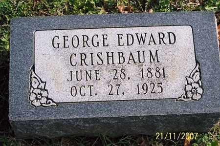 CRISHBAUM, GEORGE EDWARD - Ross County, Ohio   GEORGE EDWARD CRISHBAUM - Ohio Gravestone Photos