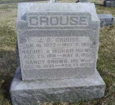 BROWN CROUSE, NANCY - Ross County, Ohio | NANCY BROWN CROUSE - Ohio Gravestone Photos