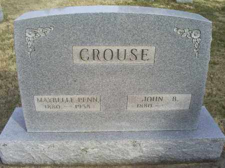 CROUSE, MAYBELLE - Ross County, Ohio   MAYBELLE CROUSE - Ohio Gravestone Photos