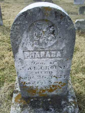 CROUSE, PHARABA - Ross County, Ohio | PHARABA CROUSE - Ohio Gravestone Photos
